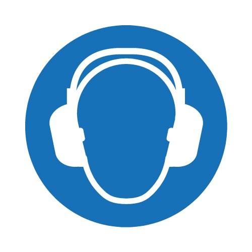 Klistremerke Påbudt med hørselvern (5stk)