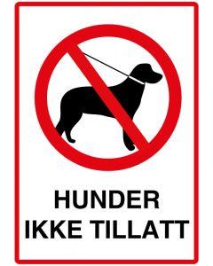 Hunder ikke tillatt