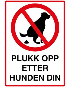 Plukk opp etter hunden din
